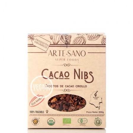 Nibs de Cacao Orgánico Arte-Sano 200g