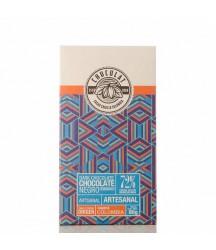 Barra de Chocolate Oscuro Chuculat 72% Caquetá 80g