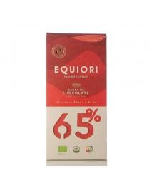 Chocolate Orgánico Oscuro 65% Equiori 80gr