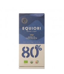 Chocolate Orgánico Oscuro 80% Equiori 80g