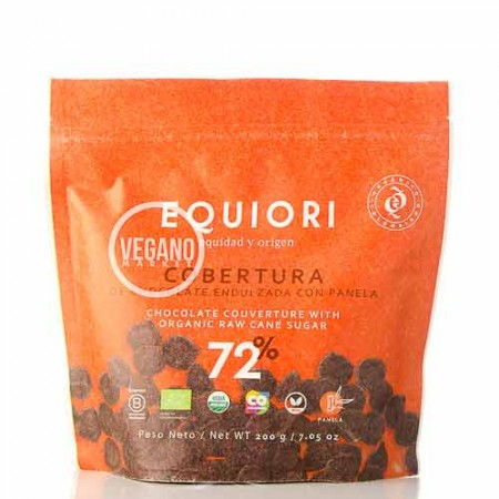 Cobertura de Chocolate 72% Equiori 200g