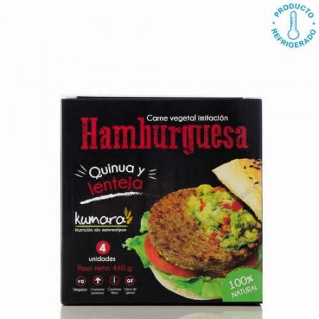 Hamburguesa de Quinua y Lenteja Kumara 460g x4