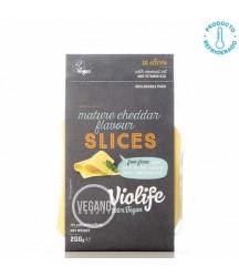 Queso Vegano Sabor Cheddar Violife Lonchas 200g x10